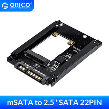ORICO mSATA 2.5 inç SATA 22PIN adaptörü SSD adaptörü kart tam boy boyut desteklenen mSATA SATA3 SSD 25X30 mSATA SSD