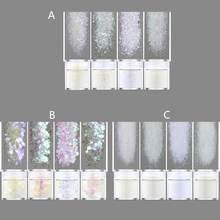 4 цвета радужные белые блестки пигментные наполнители из смолы