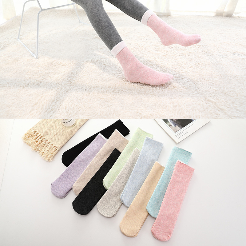 Hd20f02a6940645fa8ee882e3607e09007 - Thickening Cashmere Snow Socks Men Women's Autumn And Winter Warm Velvet Solid Casual Thermal Keep Sleeping Socks