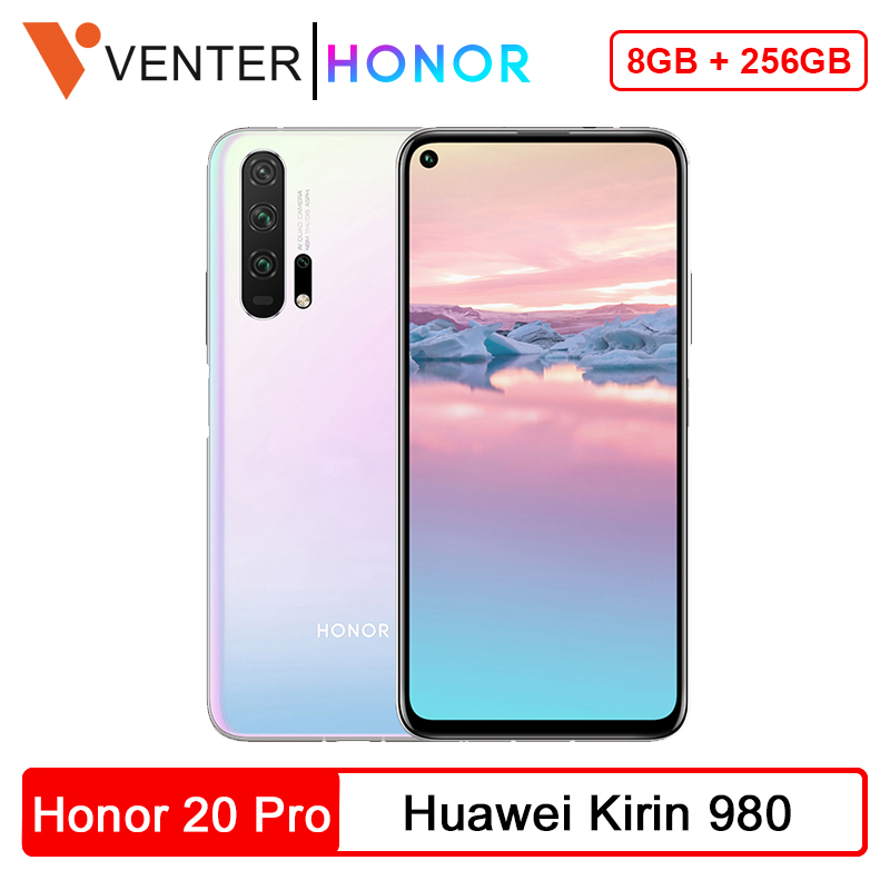 Global Version Honor 20 Pro Smartphone 8GB 256GB Kirin 980 Octa Core 48MP Four Camera 6.26'' Cell Phone 4000mAh Google Play NFC