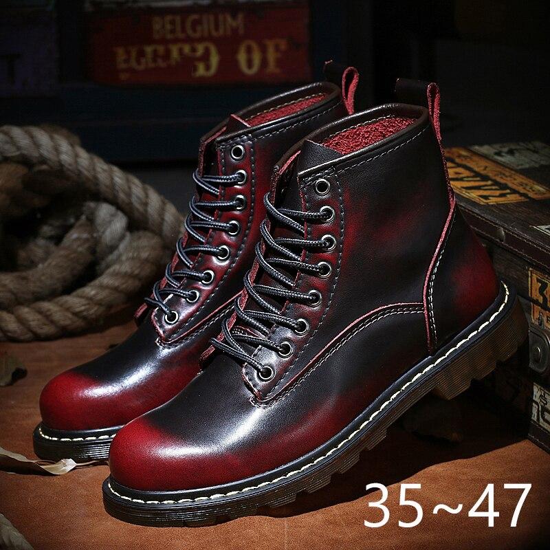 Мужские ботильоны с высоким берцем Coturno, коричневые кожаные ботинки с высоким берцем, теплые мотоциклетные ботинки, унисекс, зима 2020|Мотоциклетные ботинки|   | АлиЭкспресс