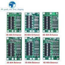 3s/4S 40a 60a li-ion bateria de lítio carregador placa de proteção 18650 bms para o motor de broca 11.1v 12.6v/14.8v 16.8v melhorar o equilíbrio