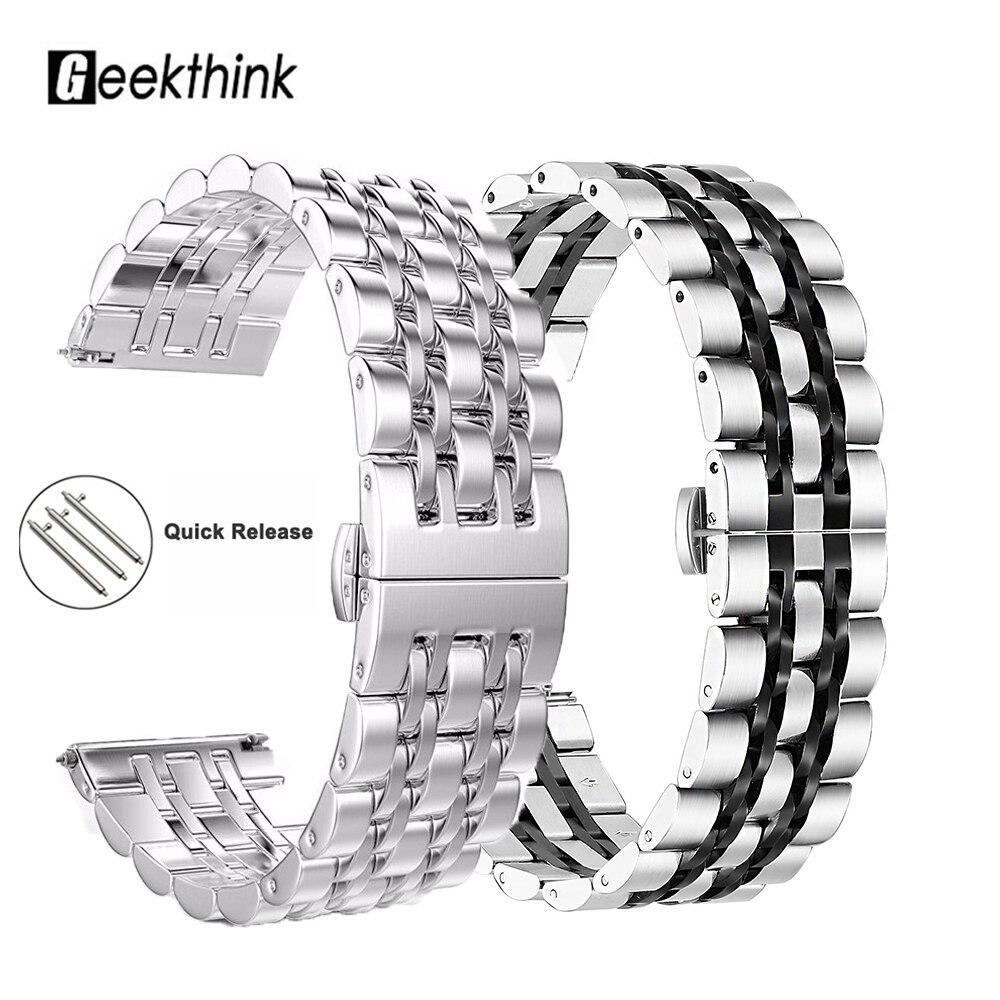 Samsung Gear S3 Frontier Galaxy Watch 46mm 42mm 22mm 20mm  Amazift Solid Metal Stainless Steel Strap Wristband Bracelet Samsung