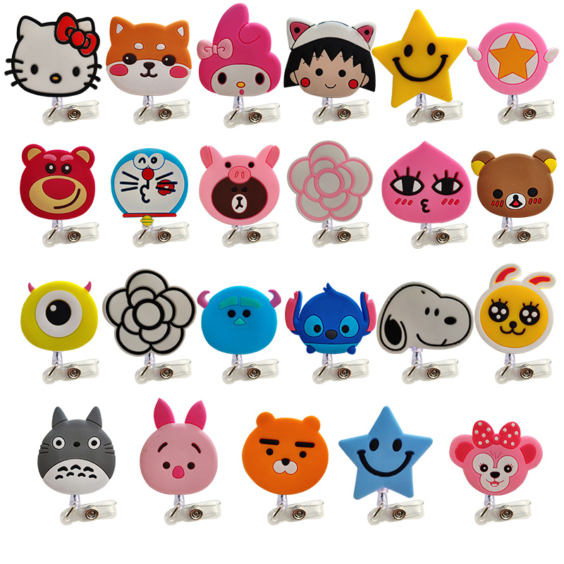 2019 Cute Cartoon Child Student Nurse Retractable Reel Badge Holder Lovely Kids Reels