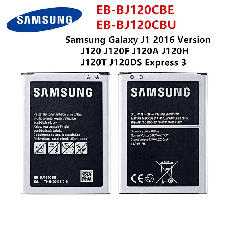 SAMSUNG Orginal EB-BJ120CBE EB-BJ120CBU 2050mAh Battery For Samsung Galaxy Express 3 J1(2016) J120 J120F J120A J120H J120T