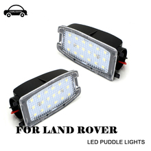 White LED Side Mirror Puddle Lights Lamp No Error for Land Rover Range Rover Sport L322 Discovery Freelander 2 LR2 LR3 LR4 erick s wiper 2pcs front windshield wiper arm lock clip fixing retaining clips for land rover range rover l322 2002 2012