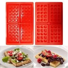 Прямоугольная форма для вафель, силиконовые мини-вафли, сковорода для кексов, конфет, шоколада, форма для выпечки