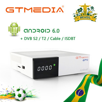 GTmedia GTC  Android 2GB RAM Digital TV Box DVB-T2 Tuner ISDB-T DVB-S2 Satellite Receiver DVB-C Cable 4K Set Top Box tv 55 tx 55fxr740 4k smarttv 5055inchtv dvb t dvb t2 dvb s2 dvb c digital