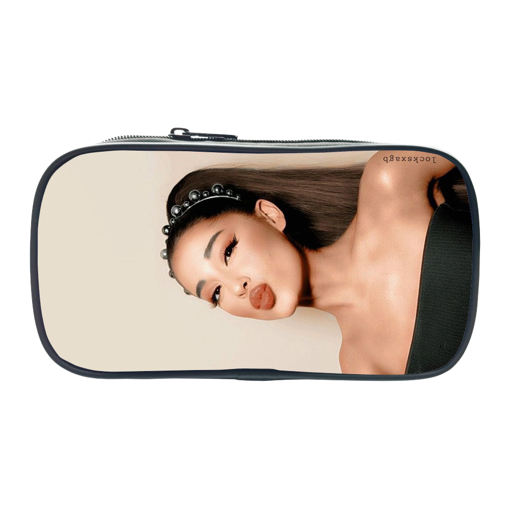 Kids Pencil Case Ariana Grande 7 Rings Small Tote Cosmetic Bag Boys Girls Stationery Storage Bags School Supplies Makeup Bag
