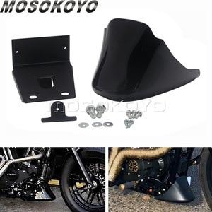 Black Lower Front Bottom Spoiler Mudguard Air Dam Chin Fairing Cover for Harley XL Sportster 883 1200 Nightster Roadster 04-20