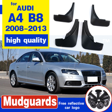 FRONT REAR MUD FLAP MUD FLAPS FIT FOR AUDI A4 B8 2008 2009 2010 2011 2012 2013 SPLASH GUARDS MUDGUARDS FENDER ACCESSORIES SEDAN неокрашенный задний багажник спойлер крыла для audi a4 b8 sedan 09 12 ca стиль