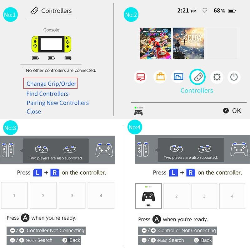 Controlador joycon inalámbrico Bluetooth Dealonow para controlador de Joycon con interruptor a la izquierda y a la derecha - 5