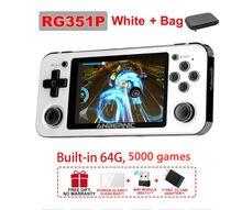Anbernic rg351p retro handheld jogador de jogo rk3266 sistema linux embutido 5000 ps1 n64 fc jogos console de vídeo jogadores de música presentes