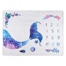 Flannel Milestone Blanket Baby Photography Background Newborn Bedding Quilt U50F