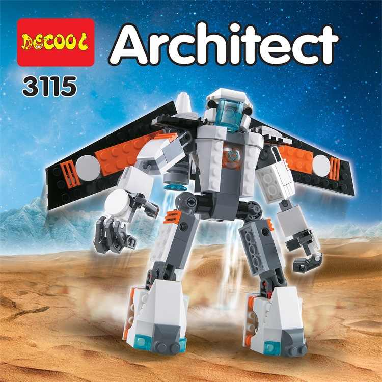 Decool 3115 Ville Createur 3 DANS 1 Avenir Bay Robot Khối De Xây Dựng Đổ Enfants Jouets Tương Thích 31034