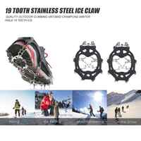 Hot Sale Shoe Crampons Skillful Manufacture 19 Teeth Outdoor Climbing Crampons Anti Slip Walk Traction Cleats with Carry Bag
