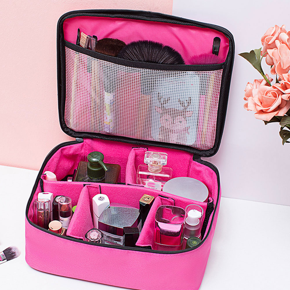 2020 Waterproof Large Make Up Cosmetic Travel Bag Professional Vanity Case Box Nail Tech Storage Beauty Toiletry Bags