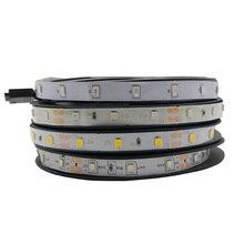 цена на Led Light Strip Tape DC 12V SMD 2835 RGB White Warm White 5M/Lot 60LED/M Flexible TV Backlight Led Strip Lamp Led Strip