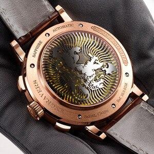 Image 5 - スイス高級ブランド lobinni 腕時計自動機械式メンズメンズ機能サファイアムーンフェイズ時計 L16001 3