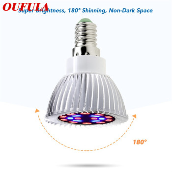 OUFULA Led Plant Growth Lamp Full Spectrum E27 18W Plant Long Lamp Succulent Seedlings Greenhouse Fill Light