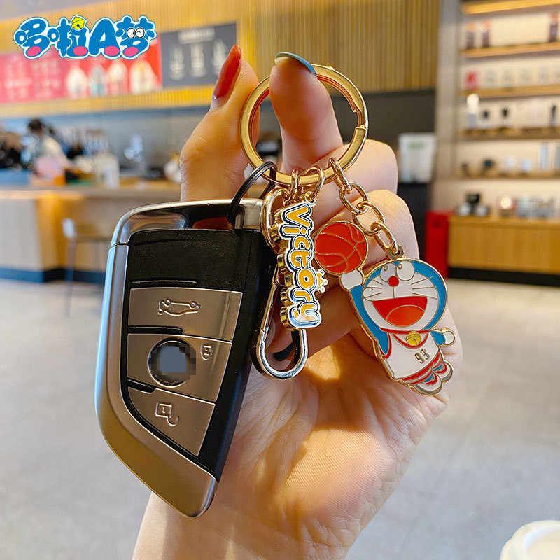 Color : Brown Hzdmfgs Portachiavi Carino Doraemon Portachiavi Figura Mano Mano Mobile colorato Casco Campanello Giocattoli per Bambini Regali di Natale