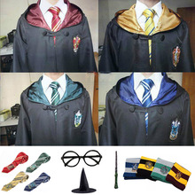Outfits Potter Magic Cloak Robe Cape Suit Hogwarts Uniform Cosplay Ravenclaw Gryffindor Costumes For Kids Adults