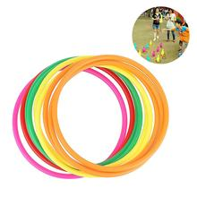 12Pcs Colorful Elastic Toss Rings Throwing Kids Carnival Game Developmental Toy Outdoor party game interactive game toys chinese rings tradictional developmental toy
