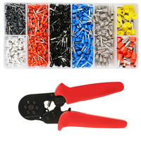 Ferrule Crimping Tool Self Adjustable Ratchet Wire Crimping Plier with 1200pcs Connectors Terminal _WK