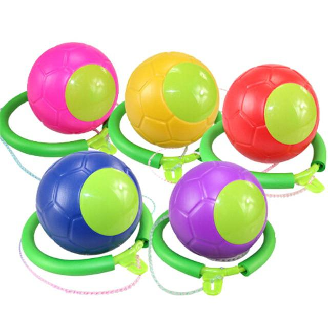Children Bouncing Juggling Sport Game Kids Outdoor Activity Fitness Training Skip Toy Ball Ankle Jumping Ball Toy