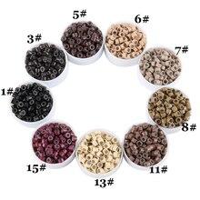 Micro-Ring-Link Hair-Extensions-Tools Crimp-Beads 1000pcs/Jar