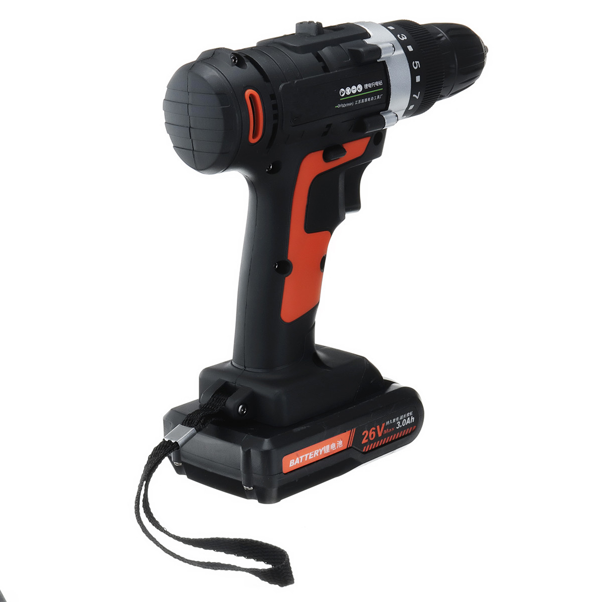 26V 350Nm Rechargeable Electric Cordless Drill Screwdriver Power Driver Lithium Battery Multifunction Electric Power Drill Tools