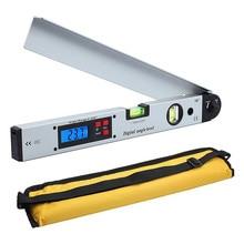 0-225 graus 400mm digital ângulo régua liga de alumínio eletrônico transferidor ângulo localizador nível medidor de medição inclinometa