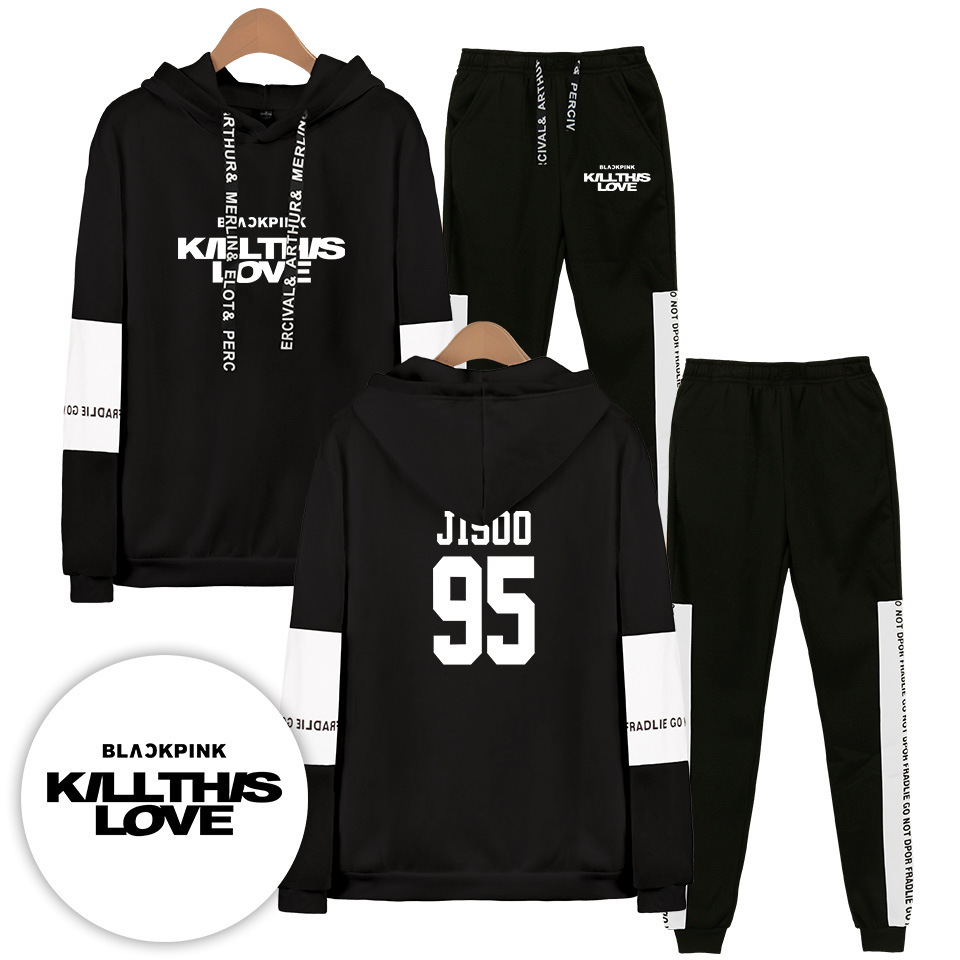 2019 Hot Sales BLACKPINK New Single KILL This LOVE Fashion Casual Hoodie Suit