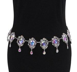 Image 2 - Nuevos trajes de danza del vientre sexy para personas mayores, cinturón de baile del vientre con piedras de color para mujer, pañuelo de la cadera para bailar el vientre