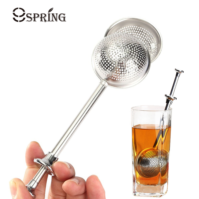 Long Handle Tea Infuser Stainless Steel Tea Strainer Filter Mesh Tea Ball Strainer Teapot Loose Leaf Green Puer Tea Accessories