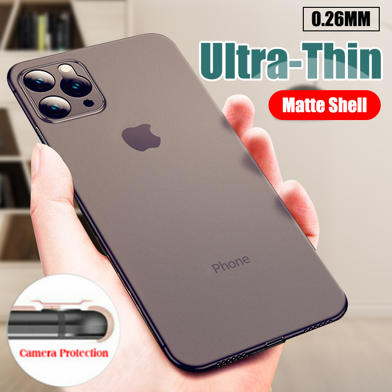 Luxury Ultra Thin Case For iPhone 11 Pro Max X XS XR XS Max PC Back Cover For iPhone 6 6s 7 8 Plus SE 2020 Shockproof Matte Case