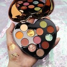 NOVO 12 Color Beauty Glazed Paleta De Sombra Matte Eyeshadow Glitter Eye Shadow
