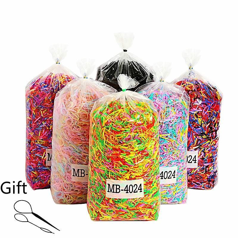 1000 шт одноразовые широкие уплотненные цветные резинки для девочек, держатель для хвоста, эластичная детская лента для волос, аксессуары для волос| |   | АлиЭкспресс - Товары для детей: бестселлеры