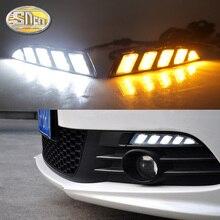 Volkswagen Scirocco için 2011 2012 2013 2014 2015 sarı dönüş sinyali röle su geçirmez 12V araba LED DRL gündüz çalışan far SNCN