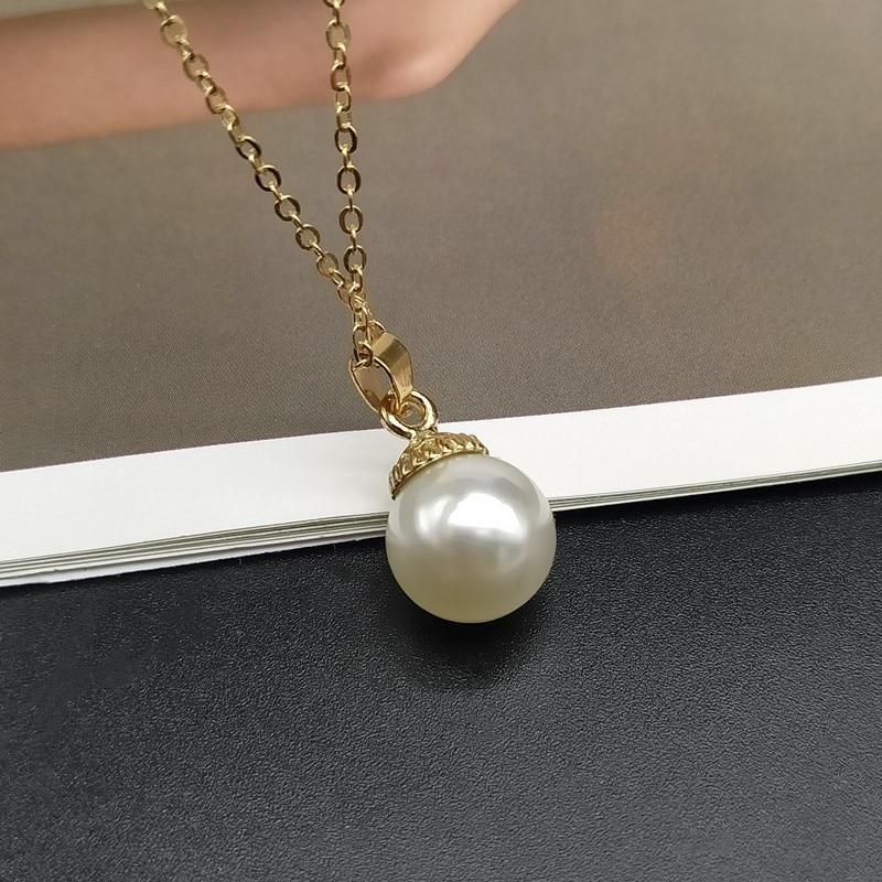 Lo último Moda Joyería para Damas Blanco Perla De Resina Colgante Collar Gargantilla Regalo Fiesta