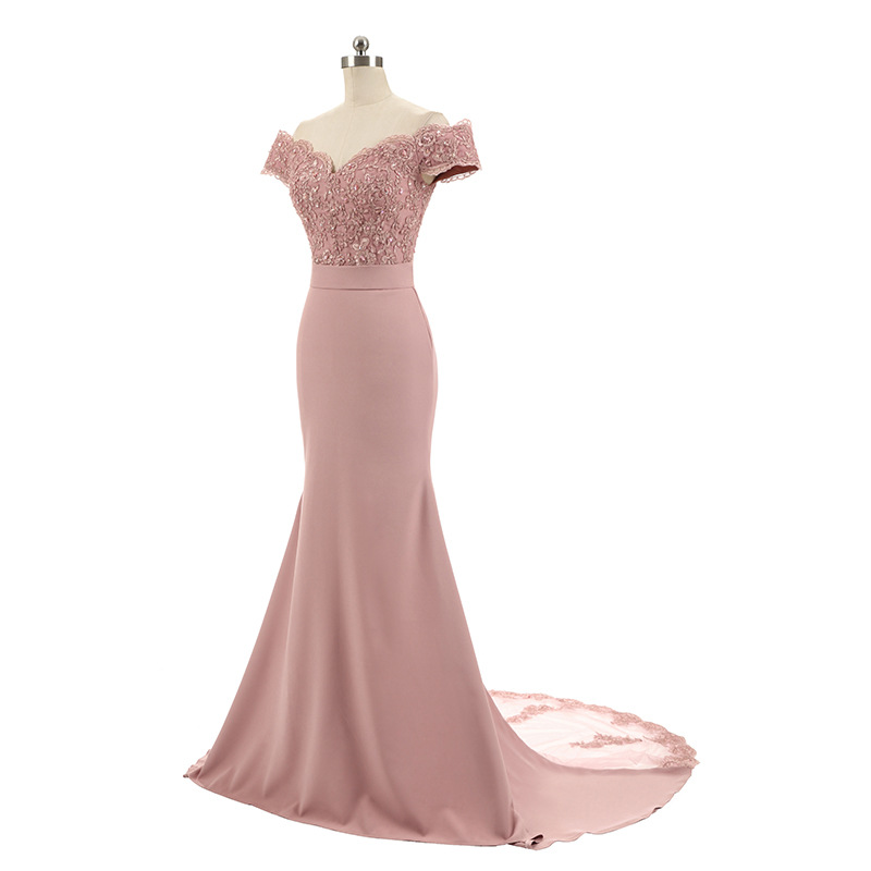 Women's Off Shoulder Long Mermaid Formal Evening Dress Festival Ceremony Anniversary Mermaid Party Wear Gowns For Women