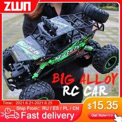 Zwn 1:12 / 1:16 4WD Rc Auto Met Led-verlichting 2.4G Radio Afstandsbediening Auto Buggy Off-Road control Vrachtwagens Jongens Speelgoed Voor Kinderen