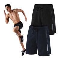 Pantalones cortos de gimnasio para hombre, ropa de deporte corto, transpirable, de secado rápido, informal, para correr