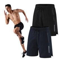 Homens calções de ginásio de secagem rápida respirável esporte curto casual fitness sweatpants masculino correndo shorts