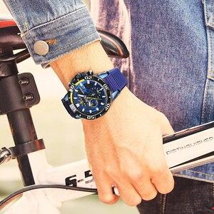 Image 5 - MEGIR мужские часы, лучший бренд, роскошные хронограф, спортивные часы, силиконовые кварцевые военные часы, часы, Relogio Masculino Reloj Hombre