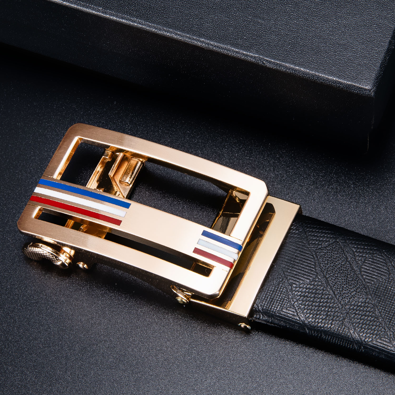 Famous Brand Automatic Belt Buckles For Men 3.5cm Width Luxury Big Metal Buckle Head Gold Cowboy Business Buckles Men