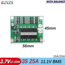 3S 25A Li-Ion 18650 BMS Batterie Schutz Bord PCM mit Balance für Lithium-ionen Lipo batterie zelle pack