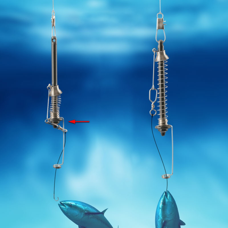 Automatic Fishing Hook Spring Ejection Fishhook Fishing Device All The Water Fish Fast Catch Tools ``