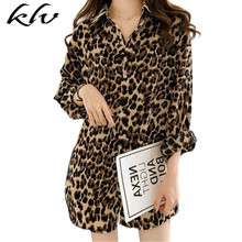 Women Plus Size Long Sleeve Blouse Vintage Leopard Printed Lapel Collar Shirts Casual Loose Button Down V-Neck Tunic Tops M-4XL womens plus size roll up long sleeve metallic pineapple printed stand collar blouse button down v neck casual loose tops
