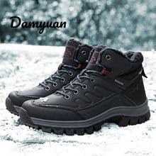 Men Boots Women Mens Shoes Snow Plus 46 Sneakers Ankle Hot Autumn Winter Fur Keep Warm